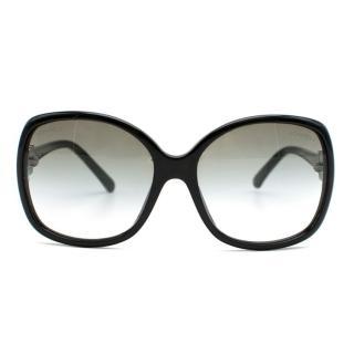 Chanel Black Green Gradient Sunglasses