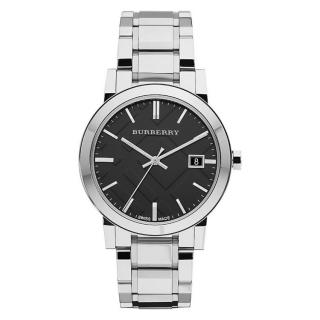 Burberry 38mm Black Dial Stainless Steel Watch