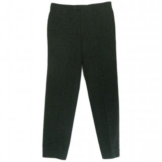 Hermes Navy Pinstripe Trousers