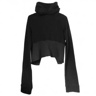 Vetements Black Cropped High Neck Sweatshirt
