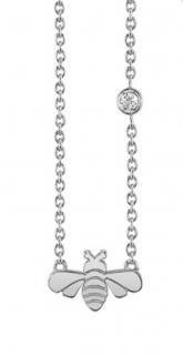 Sydney Evan Bee Pendant Chain Necklace