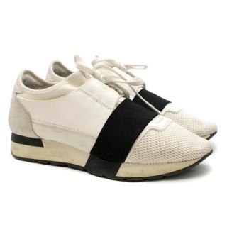 Balenciaga White Race Runner Trainers