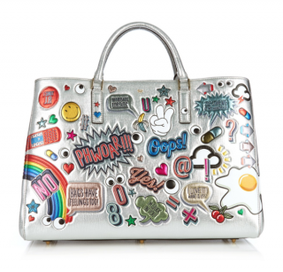 Anya Hindmarch Ebury Maxi Stickers Printed Leather Bag