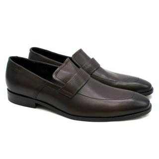 Hugo Hugo Boss Brown Leather Loafers