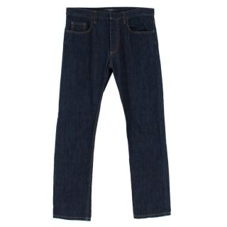 Valentino Dark Blue Straight Fit Jeans