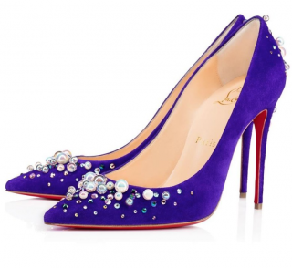 Christian Louboutin Suede Candidate Pumps