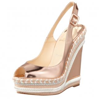 Christian Louboutin Santa Maria Mirrored Wedge Sandals