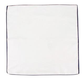 Bespoke White Silk Pocket Square
