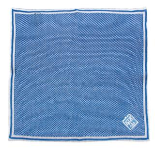 Bespoke Blue Knit Cotton Pocket Square