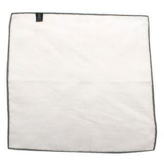 Bespoke White Linen Pocket Square