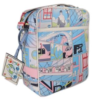 Prada runway SS18 leather comic book messenger bag