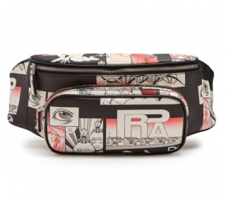 Prada comic-strip print leather belt bag
