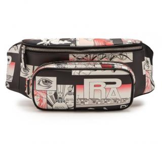 Prada comic-strip print leather belt bag