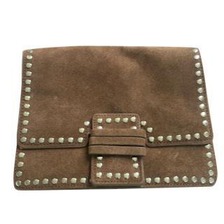 Great By Sandie suede studded crossbody bag