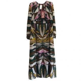 Max Mara Multi-Print Maxi Dress