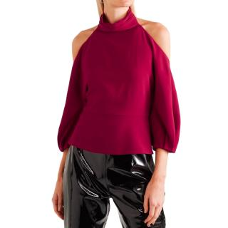 Cushnie Et Ochs Cold-Shoulder Halterneck Top
