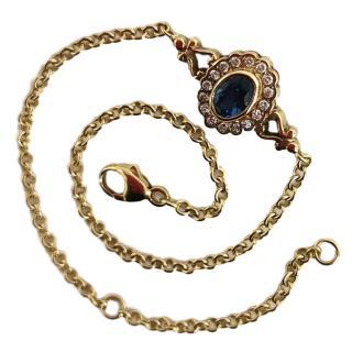 Bespoke Celon Sapphire & Diamond 18kt gold bracelet