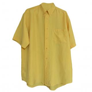 Paul & Shark Men's Yellow Silk Shirt