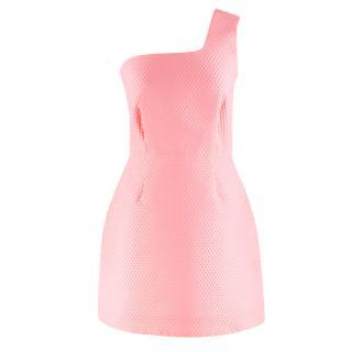 Victoria Victoria Beckham Neon Pink One-shoulder Dress