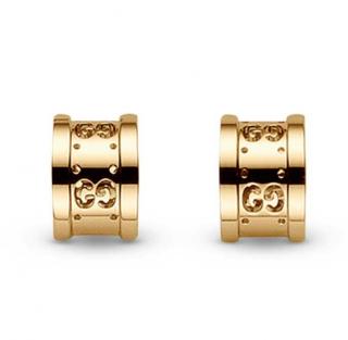 Gucci Icon Twirl 18ct Gold Half Circle Earrings