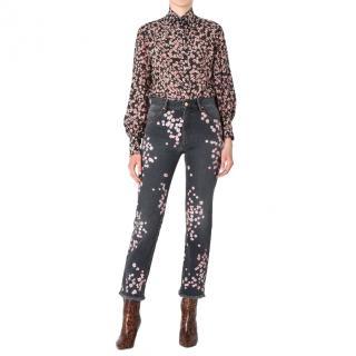 Isabel Marant holan flower jeans