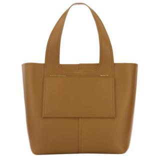 Victoria Beckham Tan Apron Tote Bag