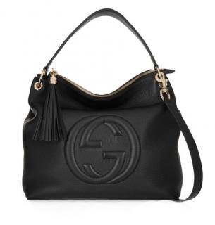 Soho Hobo textured-leather shoulder bag