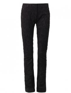 Erdem Black Stina Damask-Brocade Trousers