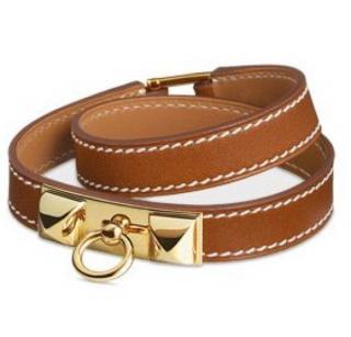 Hermes Gold Rivale Double Tour Bracelet