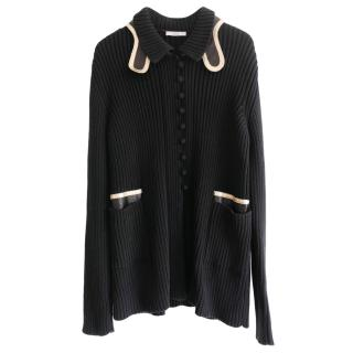 Prada Ribbed Chunky Knit Cardigan