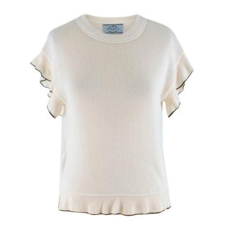 Prada Cream Wool blend Knit Top