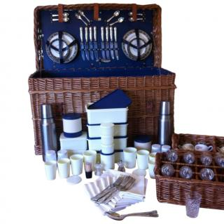 Asprey 8 Person Traditional Wicker Picnic Hamper