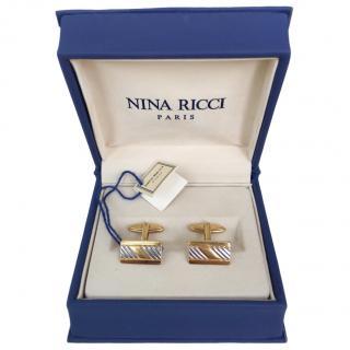 Nina Ricci VIntage Rectangular Cufflinks