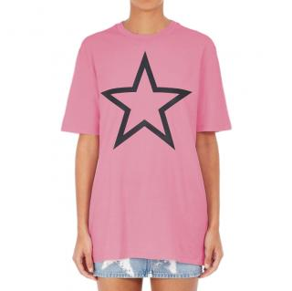 Givenchy star print bright pink t-shirt