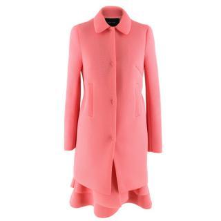 Simone Rocha Pink Neoprene Coat and Dress