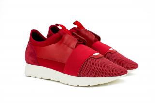 Balenciaga Red Race Runner Sneakers