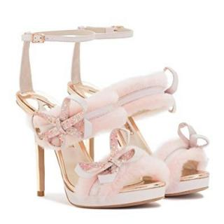 Sophia Webster Pink Bella Faux Fur Sandals
