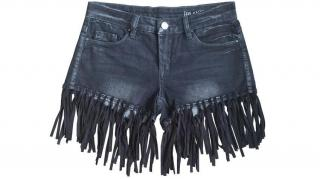 Blank NYC denim fringed shorts