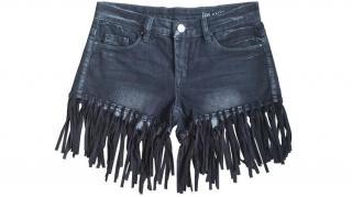 Blank NYC denim fringed shorts