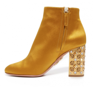 Aquazzura Yellow Party 85 Booties