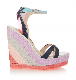 Sophia Webster Lucita Malibu leather wedge sandals