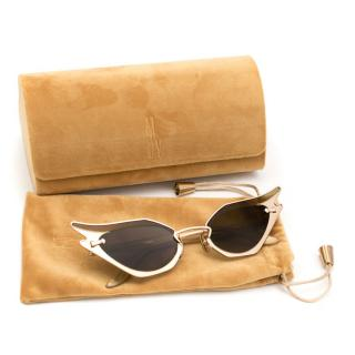 Moy Atelier Gold Tone Wild At Heart Sunglasses