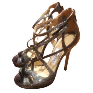Jimmy Choo Crystal Wrap Sandals