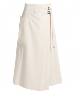 Bottega Veneta Wool Wrap Midi Skirt