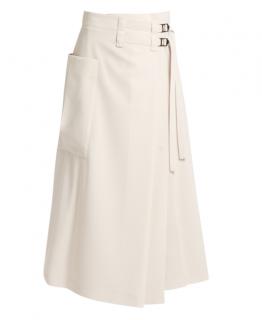 Bottega Veneta Wool Wrap Midi Skirt