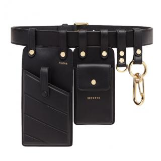 Fendi Black Leather Multi-Tool Belt Bag - New Season