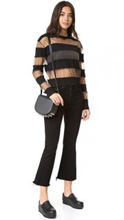 McQ Solid & Sheer Cropped Sweater