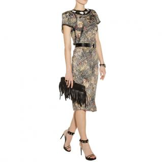 Bottega Veneta Silk Printed Embellished Skirt & Top