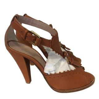 Mulberry Tan Cookie Sandals