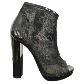 John Richmond lace rhinestone ankle boots